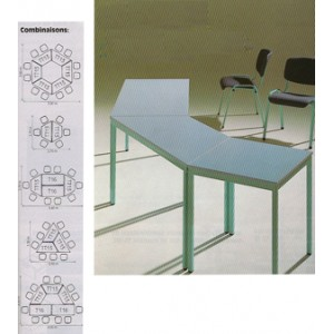 Trapezförmiger Tisch