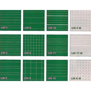 Linien auf weisser oder grüner Tafel nach Wahl