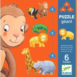 Riesenpuzzle - Äffchen und...