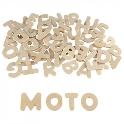 Lettres capitales bois