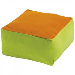 Coussin carré bicolore
