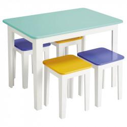 1 table + 4 tabourets Studio