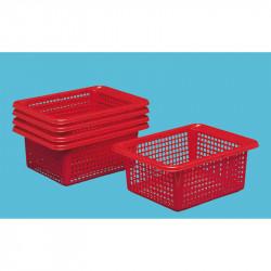 Paniers plastique rouge