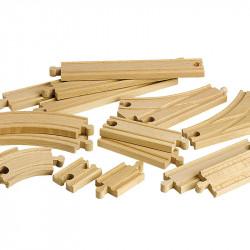 Circuit de train en bois -...