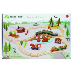 Train forêt avec accessoires
