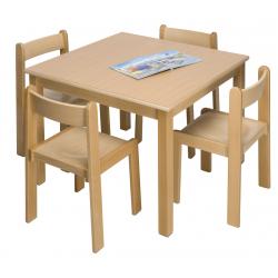 Table bois carrée