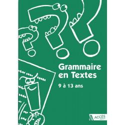 Grammaire en textes - 9/13
