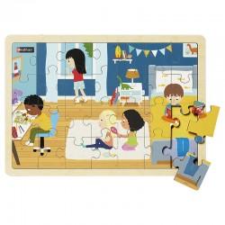 Puzzles bois - Dans la chambre