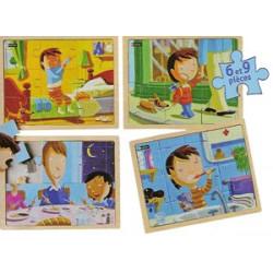 Puzzles bois - Ma journée