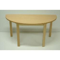 Table bois demi-lune