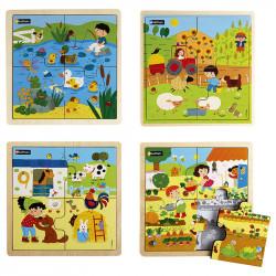 La campagne - Lot de 4 puzzles
