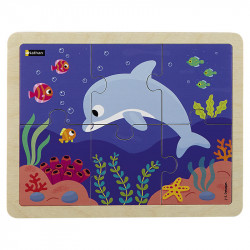 Puzzle 6 pièces - Le dauphin