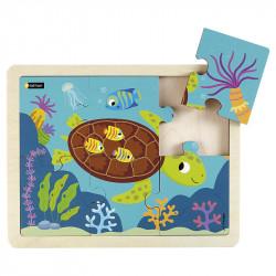 Puzzle 6 pièces - La tortue