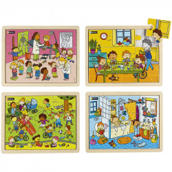 Puzzle bois 6 pièces - Les...