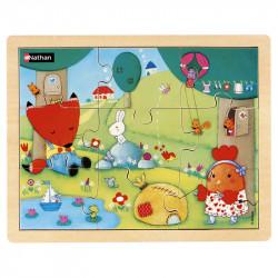 Puzzle bois 9 pièces -...