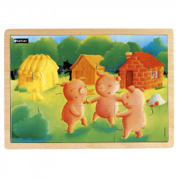 Puzzle bois 9 pièces - Les...