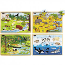 Holzpuzzle: Tiere aus aller...