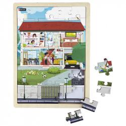 Puzzle juxtaposable la maison